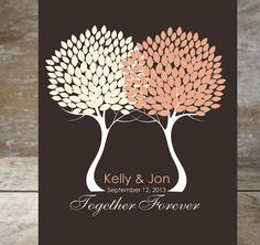 Personalized Couples Love Trees Anniversary Gift by IndigoRain