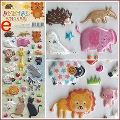 Animal Stickers set (E) creative cute new mini sheet adhesive scrapbooking Korea