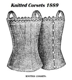 Knitted corsets 1889 Victorian Knitting Pattern PDF by KnittyDebby, $2.99