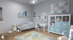 Projekt aranżacji mieszkania 3-pokojowego w Szczecinie - Pokój dziecka, styl skandynawski - zdjęcie od KODA DESIGN studio projektowe Dawid Kotuła