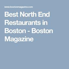 Best North End Restaurants in Boston - Boston Magazine