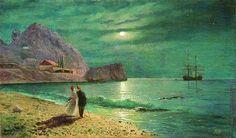 Lev Lagorio - Night at Crimea Seashore (1880)