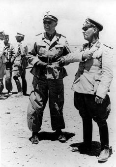 Albert Kesselring and Erwin Rommel in Libya, September Nagasaki, Hiroshima, Fukushima, Afrika Corps, Erwin Rommel, Field Marshal, Italian Army, Man Of War, German Army