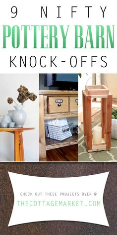 9 Nifty Pottery Barn Knock-Offs - The Cottage Market    #PotteryBarn, #PotteryBarnKnock-Offs, #PotteryBarnDIYProjects
