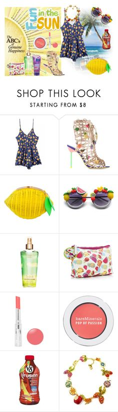 """""""MY FRUIT SUMMER"""" by ibonita ❤ liked on Polyvore featuring Sophia Webster, Boohoo, Bare Escentuals, fruits, yellow, summerstyle, summer2015 and citric"""