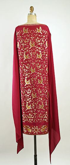 Evening ensemble (image 2 - dress back) | Callot Soeurs | French | 1925-26 | silk | Metropolitan Museum of  Art | Accession Number: C.I.44.64.13a–c