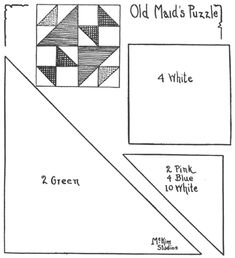 Old Maid's Puzzle Quilt