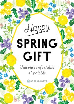 "ON SEVEN DAYS<br>""Spring Gift"" Campaign Pop Design, Text Design, Flyer Design, Graphic Design, Floral Illustrations, Cute Illustration, Illustrations Posters, Poster Art, Gig Poster"
