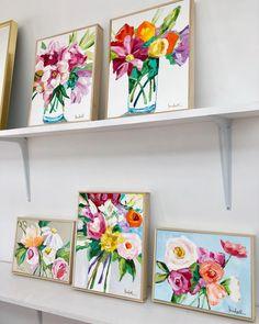 Some medium sized flowers framed & ready to go!