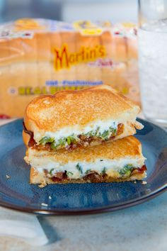 Turn your favorite appetizer into a delicious sandwich with roasted jalapenos, creamy goat cheese, bacon, some apricot preserves (to cool it down a bit), and Martin's Old-Fashioned Real Butter Bread!