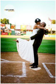 #bride #groom #baseball #wedding // Kate's Captures Photography