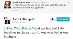Patrick Stump and his hat