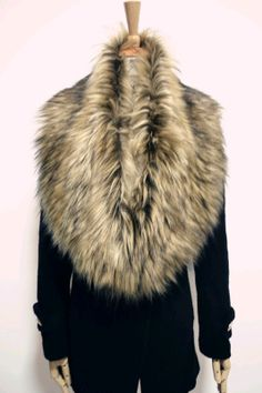 $10 Womens Fashion Luxury Trendy Faux fake fur shrug Cool Scraf Wrap collar portable Black White Grey Brown-in Scarves from Apparel & Accessorie...