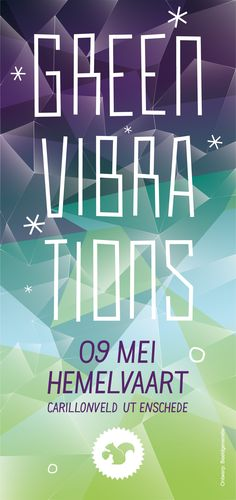 Green Vibrations festival - love the design and the colors