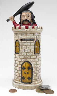 Bracciano Castle Authentic Foundry Mechanical Piggy Bank