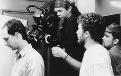 Behind the scenes of PI with director Darren Aronofsky, cinematographer Matthew Libatique, and star Sean Gullette. Matthew Libatique, Famous Directors, Darren Aronofsky, Famous Pictures, Best Duos, Film Director, On Set, Picture Photo, Behind The Scenes