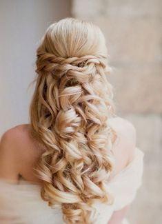 bruidskapsel lang haar
