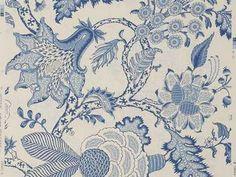 pierre frey wallpapers with flowers batik blue ink