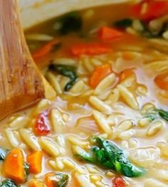 Italian Orzo Spinach Soup   Want-to-Share.com