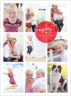 Be Merry Grid Holiday Card