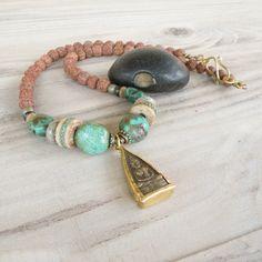Buddha Necklace, Turquoise Necklace, Prayer Beads, Spiritual Jewelry, Amulet, Tibetan Necklace