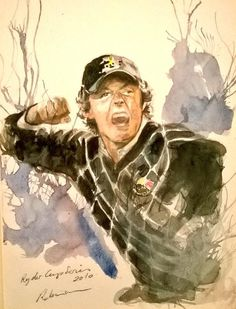 Rory sketch-from Ryder Cup 2010 Celtic Manor sketch book. Mark Robinson. www.robinsongolfart.com
