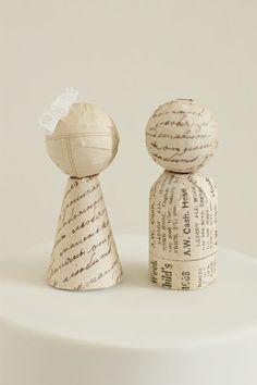 Paper Cake Topper Figurines