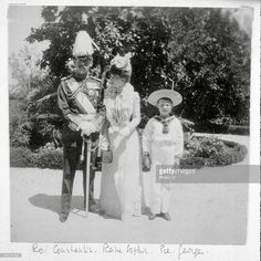 King Constantine , Queen Sophia of Prussia and Prince George . Get premium, high resolution news photos at Getty Images Friedrich Ii, Queen Sophia, Greek Royalty, Greek Royal Family, Grand Duchess Olga, Royal Queen, King George, My Princess, Royals