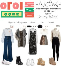 Discover outfit ideas for made with the shoplook outfit maker. How to wear ideas for Bluesy wide-leg jeans and Loveless belted panelled skirt Tv Show Outfits, Stage Outfits, Kpop Outfits, Korean Outfits, Dance Outfits, Fall Outfits, Cute Outfits, Ulzzang Fashion, Kpop Fashion