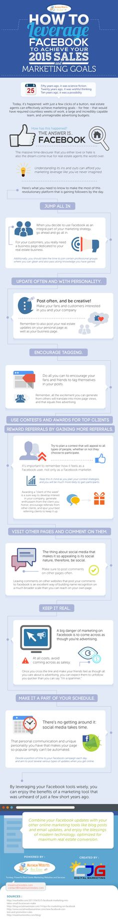 How to Leverage #Facebook to Meet Your 2015 Sales and Marketing Goals (#Infographic) #socialmedia