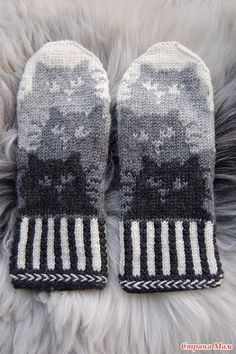 Mittens Pattern, Knit Mittens, Knitted Gloves, Knitting Socks, Hand Knitting, Kitten Mittens, Knitting Charts, Knitting Patterns, Crochet Patterns