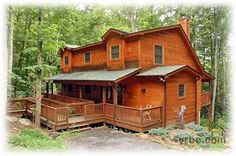 Stream, a/C, Wooded, Hot Tub, Lots of Deck, Private Log Cabin Getaways, Getaway Cabins, Log Cabins, Maggie Valley Cabins, Smokey Mountain Cabins, Couples Vacation, North Carolina Homes, Take Me Home, Log Homes