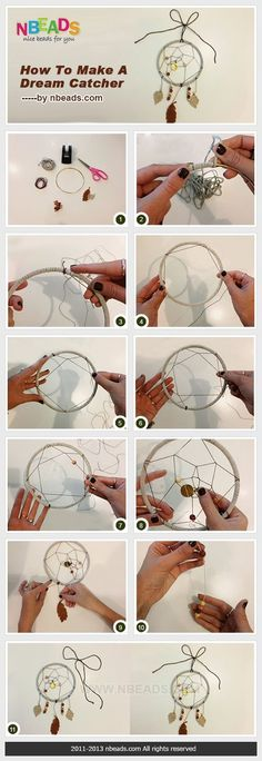 How to make your own dream catcher attrape rêve Crafts To Do, Crafts For Kids, Arts And Crafts, Dreams Catcher, Los Dreamcatchers, Ideias Diy, Diy Gifts, Craft Projects, Weaving