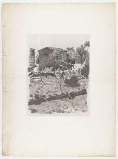Giorgio Morandi. Hillside in the Morning. 1927, probably printed c. 1942