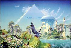 70s Sci-Fi Art: artsytoad: Roger Dean,The Asia Pyramid