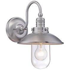 "Minka Downtown Edison 13"" High Aluminum Outdoor Wall Light"