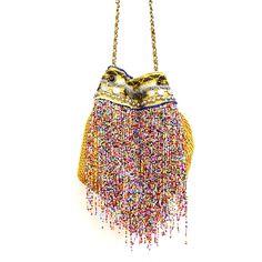 Elliot Mann : Elliot Mann, Tasche, WOW Bag Nylon, gold multicolor