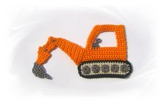 Excavator application crochet crochet sew-on by SavoeDesign