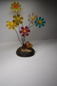 VINTAGE  RETRO LUCITE PLASTIC FLOWER SCULPTURE /WONDERMOND/ MADE USA in Collectibles, Vintage, Retro, Mid-Century, 1960s | eBay