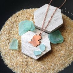 Copper Michigan State Pendant Necklace Personalize by sprout1world