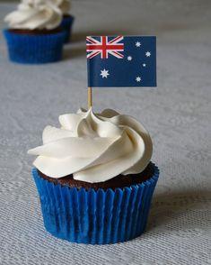 Australia Day cupcakes - Happy New Year 2019 Australia Cake, Happy Australia Day, Australia Crafts, Australia Winter, Queensland Australia, Australia Travel, Western Australia, Australian Party, Recipes