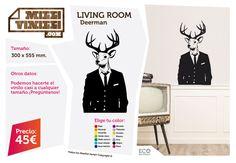 Milli Vinilli es una nueva idea para el diseño y la personalización de espacios. Con facilidad y en pocos minutos puedes decorar la pared de tu casa. Si el resultado en pared puede ser espectacular Milli Vinilli sorprende en superficies hasta hace poco inimaginables como: suelo, cristal, espejo, muebles, portátiles, etc. Seguro que a ti se te ocurren muchas más. #Deerman #Ciervo #Vinilos #Vinyls #Decoración #Decoration #Design #Homedesign #Wallpaper #Stickers #Illustration #Deco…
