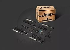 """Jeep Wrangler Mopar Four Door Two"""" Lift Kit - For Jeep Wrangler, the 2 lift is ideal for 33 tires and will clear most 35 tires 2 Inch Lift Kit with FOX Racing Shox Kit comes packaged in wooden Jeep crate For engine models Jeep Wrangler Lift Kits, Jeep Lift Kits, 2016 Jeep Wrangler, Jeep Wrangler Accessories, Jeep Accessories, Volkswagen Fox, Mopar, Wholesale Auto Parts, Jeep Jku"""