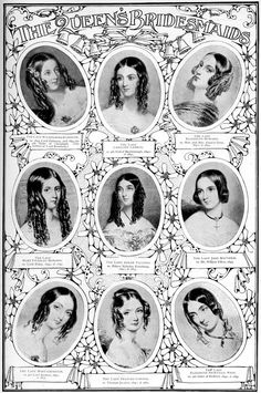 Nine of Queen Victoria's bridesmaids by Anonymous