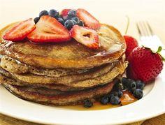 This gluten free buckwheat pancake mix is so easy to make. Buckwheat pancakes are a great way to add some flavor and fiber to your pancakes. Pancakes Sans Gluten, Pancakes Vegan, Yogurt Pancakes, Low Carb Pancakes, Blueberry Pancakes, Sourdough Pancakes, Strawberry Blueberry, Lemon Pancakes, Cheese Pancakes