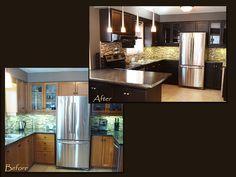 Kitchen cabinet refacing kitchener - 1000 Images About Oak Refinished On Pinterest Oak