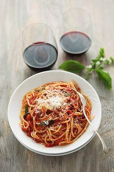 Spaghetti al arrabiata!