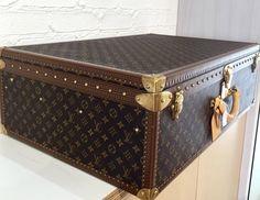 Louis Vuitton Alzer 80 Monogram Suitcase Hardcase Trunk