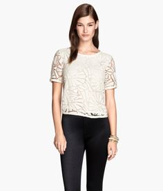 Sequined Lace Top | Product Detail | H&M