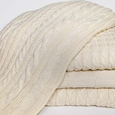 In2Green In2Green-Organic Cotton Basketweave Blanket in Natural - BL02ORG